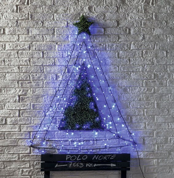 Guirnalda 180 luces azules ref 14823200 leroy merlin - Luces navidad exterior ...