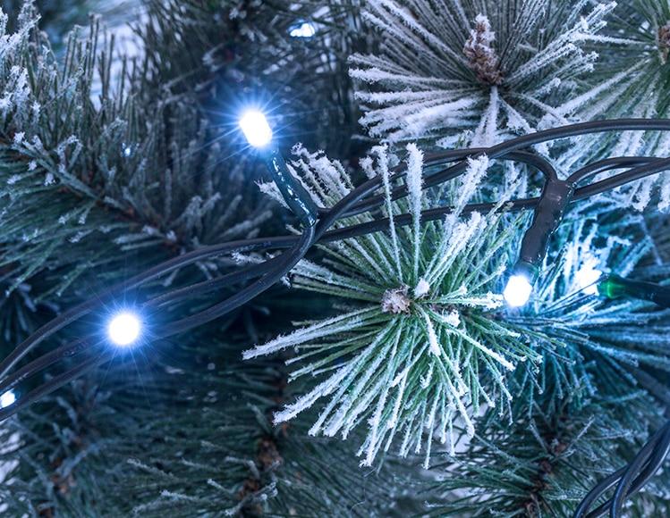Guirnalda con 50 luces blancas ref 15881936 leroy merlin for Luces de navidad leroy merlin