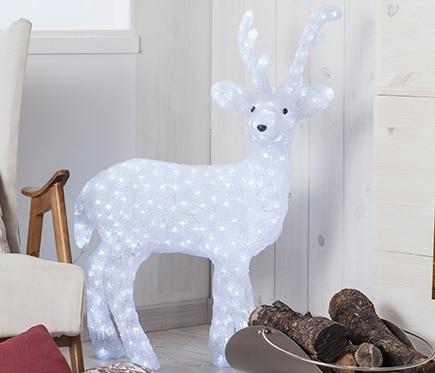 Figura de reno con luces led 96cm ref 15910902 leroy merlin for Luces de navidad leroy merlin
