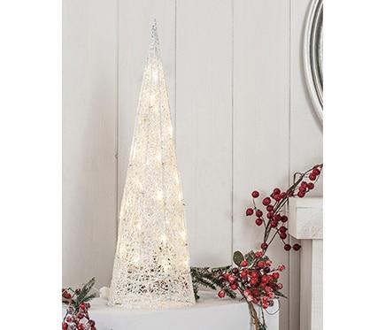 Cono blanco con luces 60cm ref 16433396 leroy merlin for Luces de navidad leroy merlin