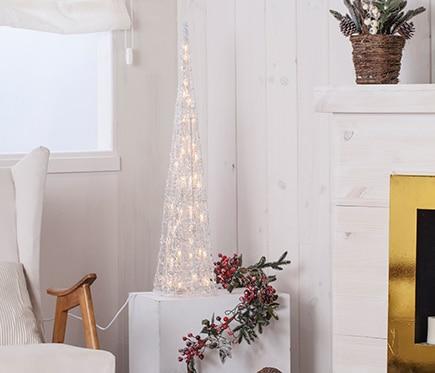 Cono blanco con luces 90cm ref 17017574 leroy merlin - Luces solares leroy merlin ...