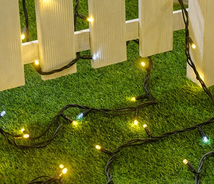 Guirnalda solar 100 luces blanco c lido 5m ref 17739463 for Luces de navidad leroy merlin