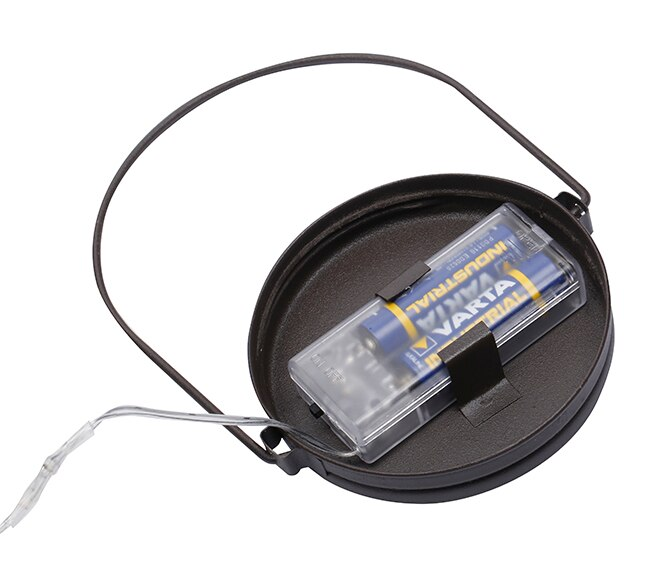 Bote decorativo con luces led de 13x11cm ref 18815300 for Luces de navidad leroy merlin