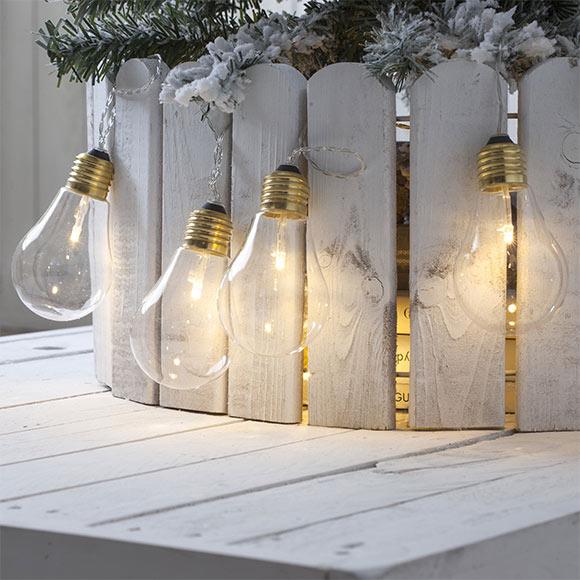 Guirnalda de luces led c lidas con bombillas de 50cm ref - Luces de navidad leroy merlin ...