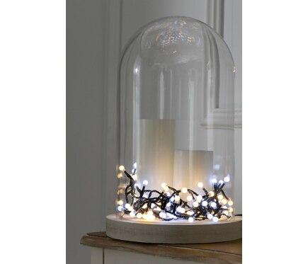Guirnalda exterior interior con 120 luces led blanco for Luces de navidad leroy merlin