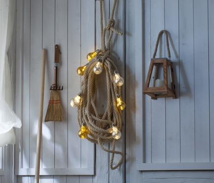 Guirnalda con bombillas oro y plata de 1 4m ref 18844014 for Guirnalda bombillas leroy merlin