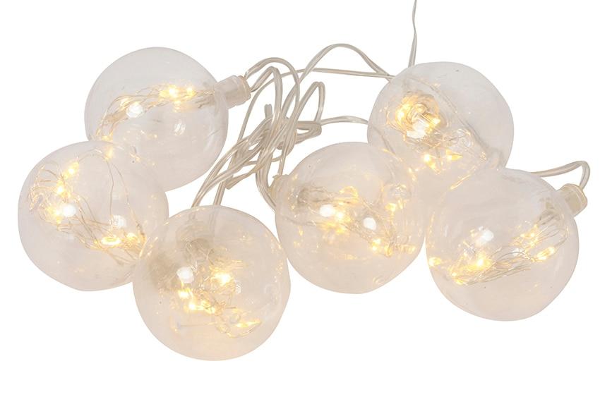 Guirnalda de luces con bolas de 1 5m ref 18844413 leroy - Luces de navidad leroy merlin ...