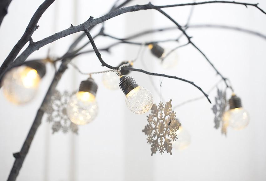 Guirnalda de luces c lidas led con forma de bombilla de 1 - Luces led calidas ...