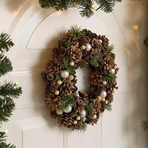 adornos navideos y coronas - Decoracion Navidea