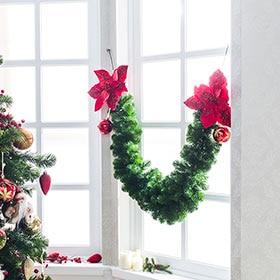 Guirnaldas y espumill n leroy merlin for Guirnaldas navidenas para puertas y ventanas