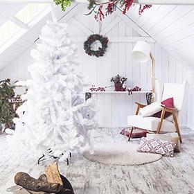 rbol de navidad blanco de cm