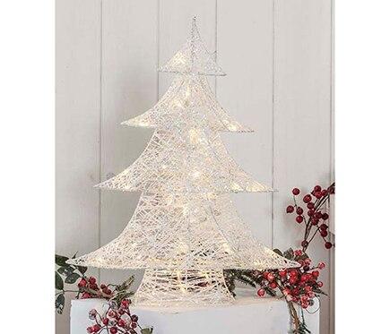Rbol de navidad de 60 cm con 40 luces algod n led ref for Luces de navidad leroy merlin