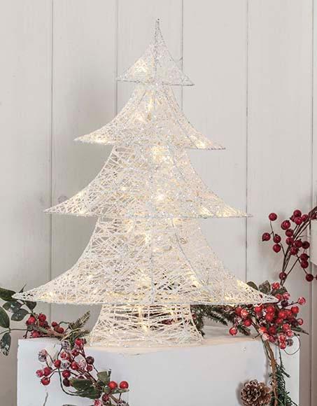 Rbol de navidad de 60 cm con 40 luces algod n led ref - Luces de navidad leroy merlin ...
