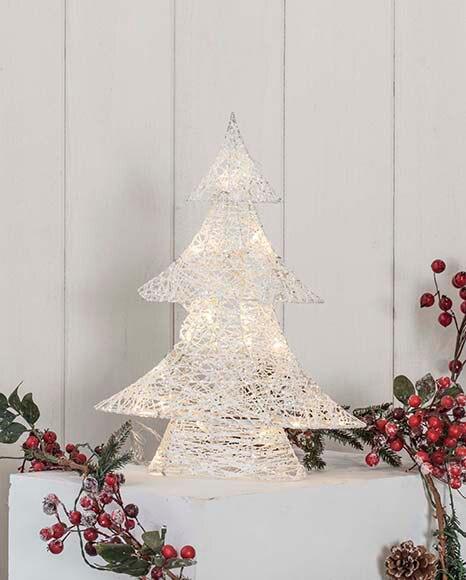Rbol de navidad de 40 cm con 20 luces algod n led ref for Luces de navidad leroy merlin