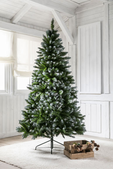 Rbol de navidad verde de 210cm allison nevado ref for Arbol navidad leroy