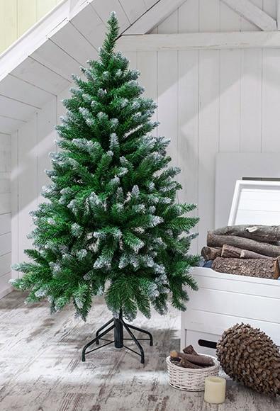 Rbol de navidad verde de 150cm allison nevado ref 15904763 leroy merlin - Arbol de navidad nevado artificial ...