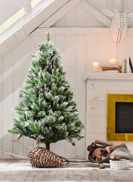 Rbol de navidad verde nevado de 150cm aspen mix ref 17023706 leroy merlin - Arbol de navidad nevado artificial ...