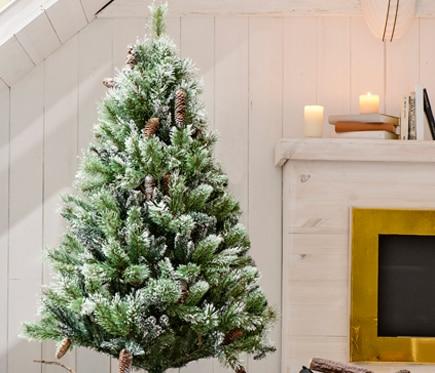 Rbol de navidad verde nevado de 180cm aspen mix ref for Arbol navidad leroy