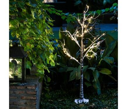 Mini rbol de navidad 125 cm con 48 luces led nevado ref for Luces de navidad leroy merlin