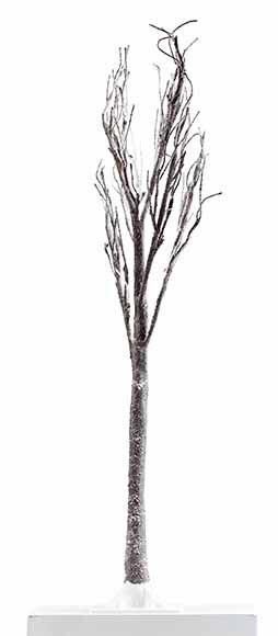 Mini rbol de navidad 125 cm con 48 luces led nevado ref - Luces de navidad leroy merlin ...