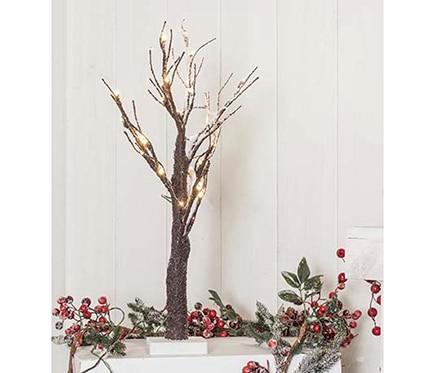 Mini rbol de navidad 60 cm con 36 luces led nevado ref - Luces de navidad leroy merlin ...