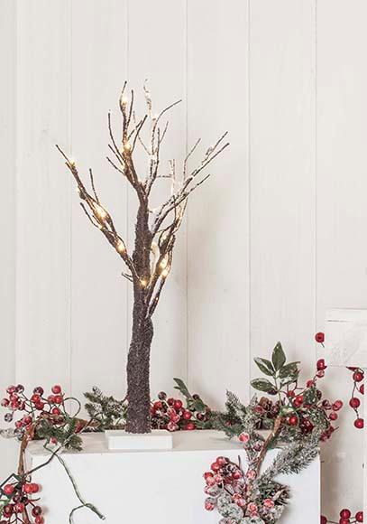 Mini árbol de Navidad 60 cm con 36 luces LED NEVADO Ref. 17019030 ...