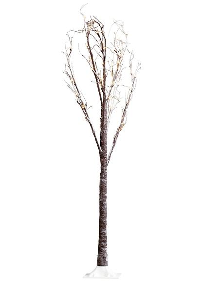 Mini rbol de navidad 160 cm con 96 luces led nevado ref for Luces de navidad leroy merlin
