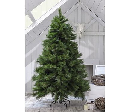Rbol de navidad verde de 210cm montgomery ref 14830900 for Arbol navidad leroy