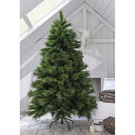 Rbol de navidad verde nevado de 150cm pi as y acebo ref - Luces de navidad leroy merlin ...