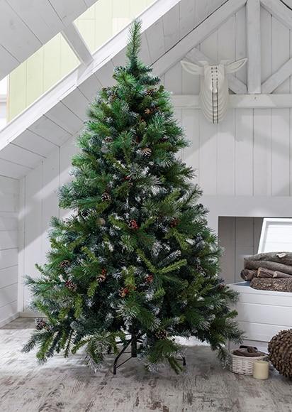 rbol de Navidad verde nevado de 150cm PIAS Y ACEBO Ref 14831523