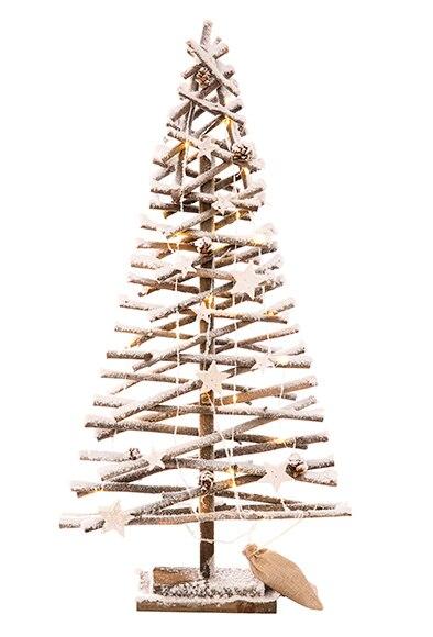 Rbol de navidad 80 cm con 30 luces snow led ref 19854044 for Luces de navidad leroy merlin