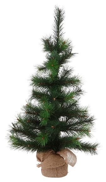 Mini rbol de navidad verde 75cm verde ref 17022096 - Arbol de navidad leroy merlin ...