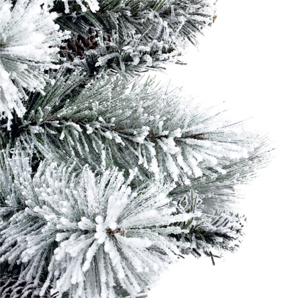 Rbol de navidad verde nevado de 90cm winter ref 17689644 - Arbol de navidad leroy merlin ...
