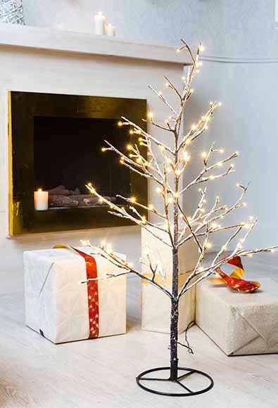 Mini árbol De Navidad 90 Cm Con 120 Luces Led Nevado Ref 17019471