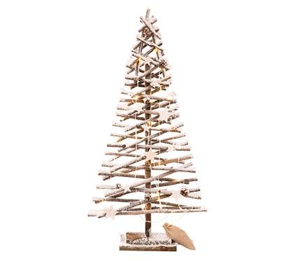 árbol De Navidad 80 Cm Con 30 Luces Snow Led Ref 19854044 Leroy